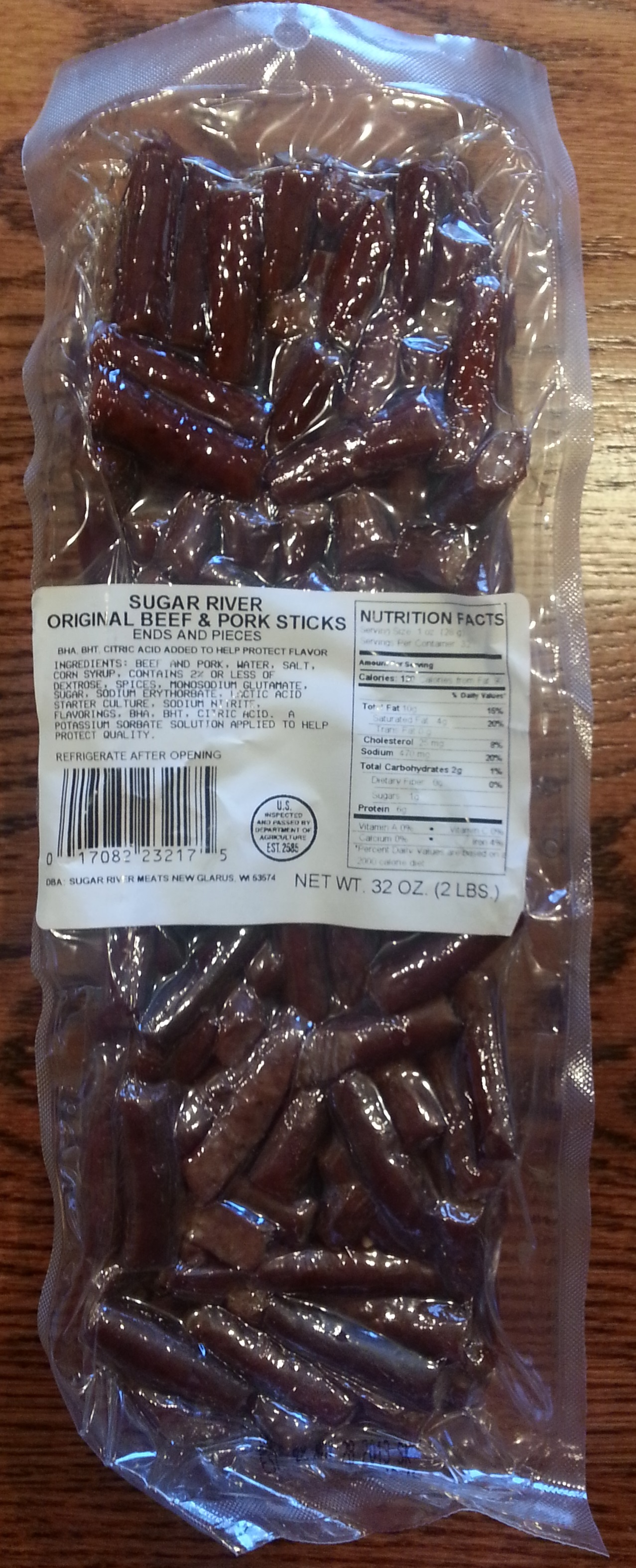Sugar River Original Beef & Pork Sticks Ends and Pieces