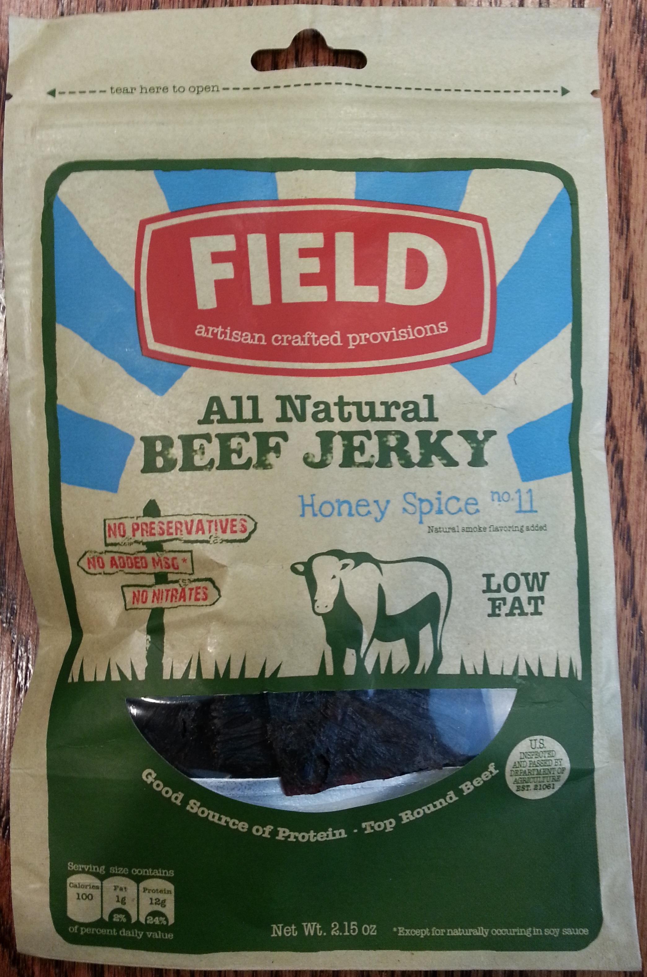 Field Trip Honey Spice No. 11 Beef Jerky