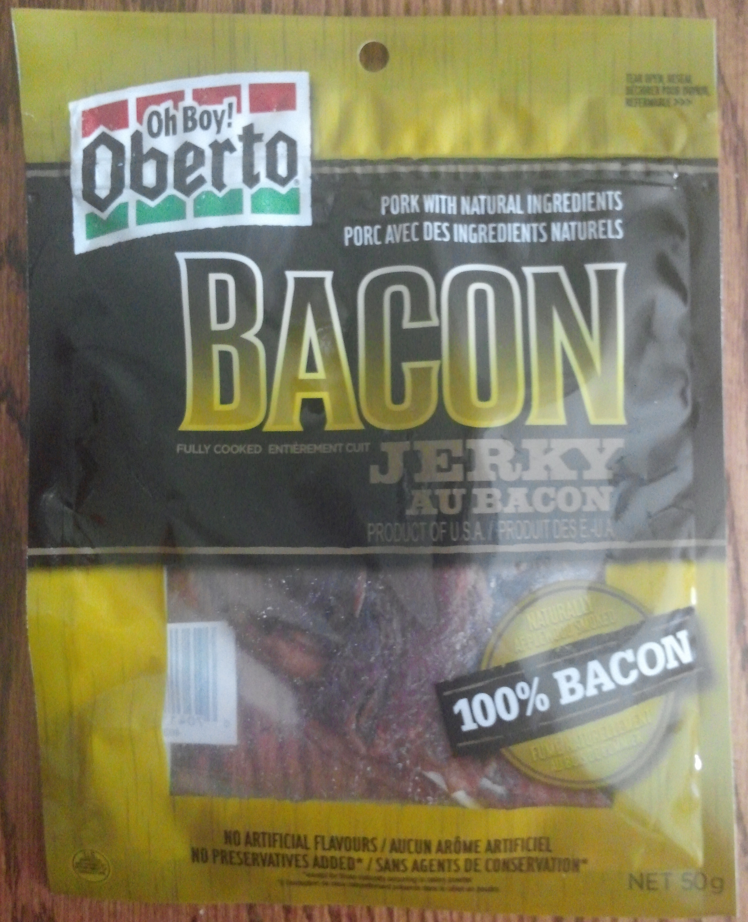 Oberto Applewood Smoked Bacon Jerky