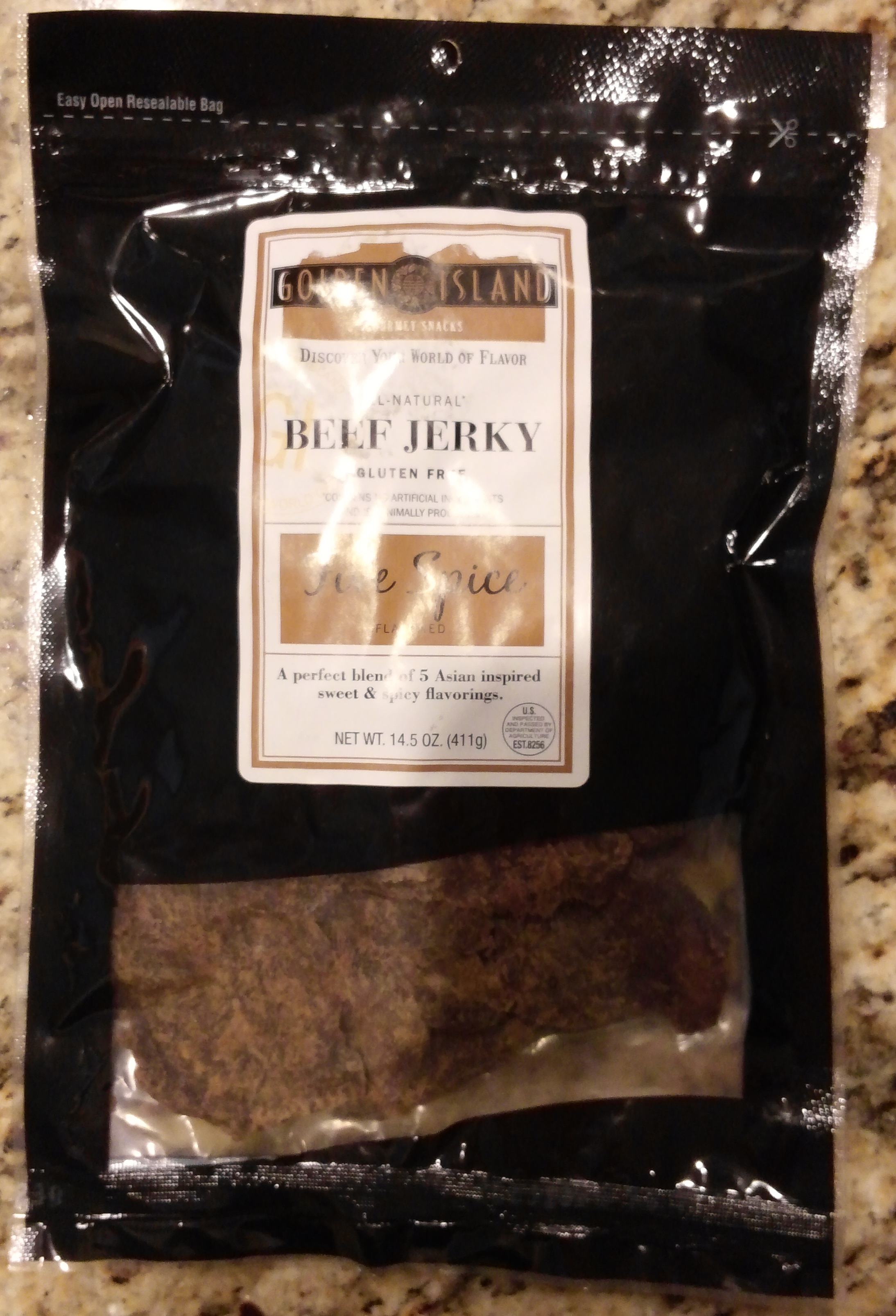 Golden Island All-Natural Five Spice Beef Jerky